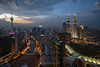 Sunset in Kuala Lumpur (Nur Ismail Photography) Tags: nightphotography shopping skyscrapers petronas commercial twintowers hdr petronastwintowers suriaklcc nighthdr petronastower3 nurismailphotography nurismailmohammed nurismail