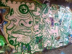 Leith River, TiC (Left) (ViSiON (NZ)) Tags: streetart graffiti vision tic graffitiart talkischeap burga nzstreetart dunedingraffiti dunedinstreetart nzgraffiti nzgraffitiart dunedingraffitiart streetartdunedin