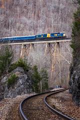 Clinchfield Santa Train 2015 (Peyton Gupton) Tags: santa railroad creek train virginia rail railway trains copper csx csxt clinchfield clinchport
