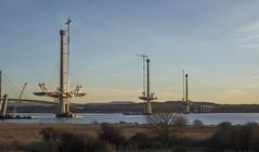 Queensferry Crossing (EU-Media) Tags: road bridge sunset sea sky scotland construction forth