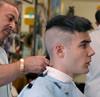 Aristotelis Flat-top no3 (John Elmslie) Tags: street portrait haircut toronto west men flat top queen barber flattop hairstylists aristotelis