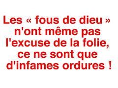 Les ordures ! (Chti-breton) Tags: cri horreur fanatisme meurtre