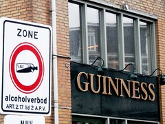 No alcohol? (magellano) Tags: amsterdam sign pub funny thenetherlands noalcohol guinness alcool ban signal olanda insegna segnale divieto alcholverbod