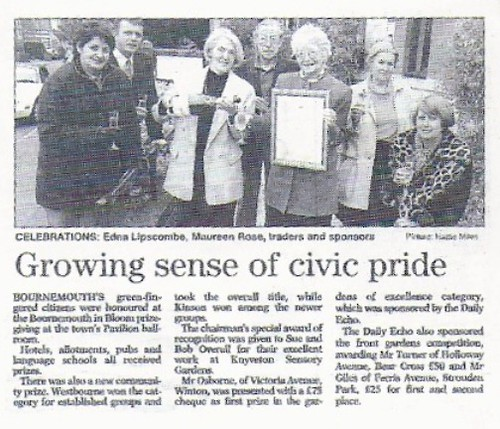 1998 Westbourne In Bloom celebrate group prize by Rad Howard