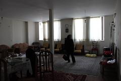 Woman Leaves Her Mother's House for the Last Time, Arak Iran (sharghzadeh) Tags: death iran funeral arak