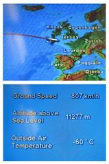 now that's cold ! (Riex) Tags: cold froid outside temperature display ecru screen flight status étatdevol flightpath europe envol g9x