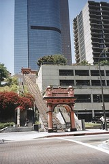 Angels Flight Railway  ~ LOS ANGLES ~ California ~ Closed  ~ Old Photo ~ Late 2002 (Onasill ~ Bill Badzo) Tags: angelsflight railway bpoe downtown ca california old photo vintage nrhp historic landmark bunkerhill 1901 tracks accident tourist core attraction site cultural monument onasill historical incline losangeles