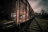 on the tracks (bjdewagenaar) Tags: railway railroad carriage coach wagon train perspective lines texture faded colors split toning utrecht holland dutch sigma wide angle 1020mm sony a58 alpha raw lightroom