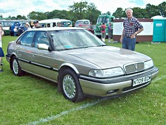 642 Rover Sterling R17 Saloon (1995) (robertknight16) Tags: rover british 1990s r17 827 sterling honda luton n709ecm