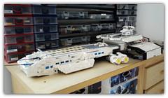 Under construction (peter-ray) Tags: lego peter ray space ship star wars trek moc brick fi battle dreadnought nx2000 samsung stargate atlantis gate daedalus odissey bc304