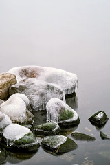 Smooth as Ice (Kirby Wright) Tags: rocks moss rock water lake mendota ice drip dripping formation clear calm peaceful smooth frozen freezing long exposure flat depth field reflection winter december madison madison365 isthmus shore union memorial university wisconsin dane county cloudy nikon d700 85mm f14 manfrotto