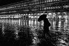 ghost bw (poludziber1) Tags: venezia city cityscape blackwhite building rain urban umbrella people venice italia italy night walk water street challengeyouwinner cyunanimous 15challengeswinner