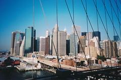 Lower Manhattan from the Brooklyn Bridge (Stabbur's Master) Tags: bridge famousbridges suspensionbridge manhattan nyc newyorkcity brooklynbridge lowermanhattan