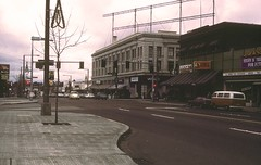 Throwback Thursday: Leary & Market Street in Ballard, 1980 (Seattle Department of Transportation) Tags: seattle sdot transportation ballard market tbt throwbackthursday rememberwhen historic sidewalk signals signs vw 1980 80s leary intersection municipalarchives