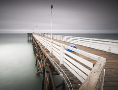 san diego : pacific beach (William Dunigan) Tags: san diego pacific beach crystal pier southern california long exposure motion blur water waves mission morning dawn cloudy marine layer