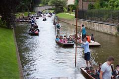 A quiet day on the river Cam..... (Jeff Derbys) Tags: cambridge punt tourists rivercam