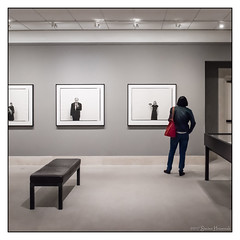 The Art of Standing (GAPHIKER) Tags: museumoffinearts museum finearts stperersburg florida stpete interior bw selectivecolor standing art photography fineart mfa