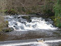 Waterfall, Kilmarnock Water, Kilmarnock (luckypenguin) Tags: scotland ayrshire kilmarnock river waterfall