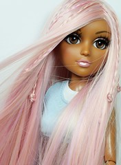 When You Put Your Hands On Me (sailorb1959) Tags: moxie teenz bijou mga mgae doll inset eyes glass wig pink hair aa mother wave 2 dolls handmade