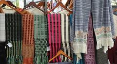 Mexican Rebozos Shawls Tenancingo (Teyacapan) Tags: tenancingo edomex rebozos weavings textiles mexican ikat shawls wraps