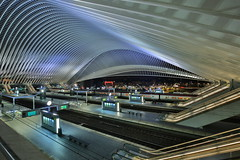 Gare Guillemins (Mettwoosch) Tags: liege belgium europe train station lüttich beligien europa bahnhof architecture night lights architektur nacht lichter longexposure outdoor travel langzeitbelichtung tour canon eos 5dm3 ef lens 5d3