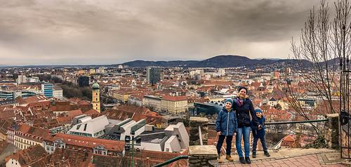 Mit der Familie in Graz