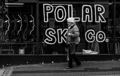 2017_69 (Chilanga Cement) Tags: fuji fujix100t x100t xseries x100s x100 x100f window winter sk8 polar pavement sidewalk lady woman bag slope preston prestonstreetphotography street bw blackandwhite monochrome grain daylight day