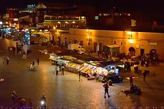 The other corner of Djemaa el Fna (T Ξ Ξ J Ξ) Tags: morocco marrakesh djemaaelfna d750 nikkor teeje nikon2470mmf28 street market stall store night