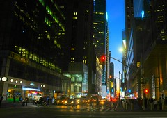 I hear music in the Street (floralgal) Tags: nyc newyorkcity manhattan colorfullights 42ndstreet urbanstreetlife newyorkcityatdusk duskinmanhattan