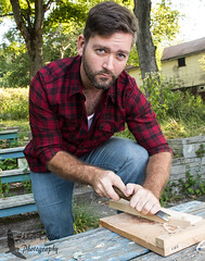 Photo Shoot w/ Bill (Shawn Collins Photography) Tags: hairy man beard model cowboy modeling masculine muscle chest manly flannel facialhair plaid thick lumberjack rugged scruff hairychest stocky lumbersexual