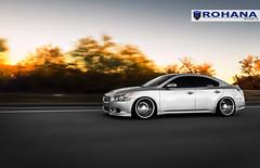 Nissan Maxima - RC8 Machine Silver (10) (Rohana Wheels) Tags: nissan wheels tuner rims import maxima nismo rohana nissanmaxima rc8 4dsc rcseries rohanawheels nissanpower