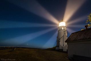 Heceta Head Lighthouse at night