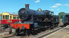 BR Built Dinmore Manor No. 7820 at North Weald Station. Great Western Weekend, Epping Ongar Railway. 07 06 2015 (pnb511) Tags: heritage train smoke engine rail railway loco trains steam locomotive steamgala eppingongarrailway northwealdstation greatwesternweekend