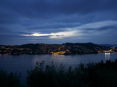 View towards Kleppest, Asky (eirikj) Tags: bridge sea norway night clouds canon fjord bergen asky kvarven g1x