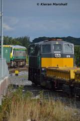 226 passes Portarlington, 16/9/15 (hurricanemk1c) Tags: irish train gm rail railway trains railways irishrail 201 generalmotors 226 portarlington 2015 emd 071 078 iarnród éireann iarnródéireann iwtliner industrialwarehousingandtrading 1140ballinanorthwall