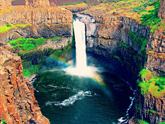 Vivid (Hannah Cade) Tags: color canon landscape waterfall rainbow pacific vivid falls pnw palouse