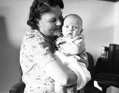 Mother & Baby Charles (TBayMuseum) Tags: ontario canada history portraits children women babies families mothers thunderbay sons womenshistory