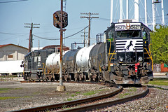 NS Local in Orrville: 2 (craigsanders429) Tags: norfolksouthern tankcars orrvilleohio norfolksoutherntrains nsfortwayneline