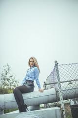 patrycja.00 (guzik_) Tags: woman senior girl beauty female 50mm nikon industrial poland 50mm14 pole jeans nikkor d610