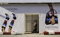 Boots and Handbag - Mayfair (stevedexteruk) Tags: street london boots billboard hoarding bond tatoo mayfair handbag valentino 2015