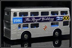 Matchbox K15 : The Royal Wedding 1981 (Zippy's Revenge) Tags: bus toy matchbox superkings daimler fleetline crude londonbus diecast dms londoner k15 whizzwheels glc123l