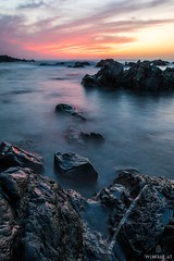 A Wild Sundown Appears! (Wim Air) Tags: ocean sea seascape france rock stone landscape rocks sundown stones sony corsica bernhard wimmer korsika a7s wimairat wimair