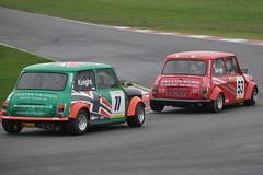 MINI Se7en Racing - R3 (31) Battle between Knight & Burge was extremely close (Collierhousehold_Motorsport) Tags: mini minicooper barc snetterton minimiglia mini7 minise7en snetterton300 minise7enracing