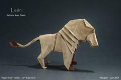 Leon - Patricio Kunz Tomic (Papygami) Tags: de origami lion animaux papier len papiroflexia patricio tomic kunz pliage papygami