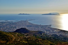 Trapani, Sicilia, Italia (Davide Morello) Tags: from road street city sea italy panorama seascape landscape islands town amazing view top an sicily erice trapani egadi
