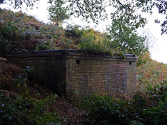 Home Guard shelter at the ramparts of the hill fort, Kinver Edge, Staffordshire (pluralzed) Tags: wwii shelter nationaltrust staffordshire rampart hillfort kinver scheduledancientmonument homeguard kinveredge ironagehillfort kinveredgehillfort promontaryfort