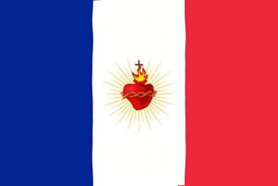 Gif drapeau français et Sacré-Coeur