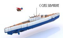 C-class submarine (Thomas of Tortuga) Tags: lego render wwi submarine seaplane ldd bluerender