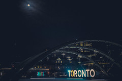 The Moon and Stars over Toronto (A Great Capture) Tags: street city pink november blue orange moon toronto ontario canada black reflection green nature sign clouds square lights bay hall downtown neon photographer nightshot nathan random outdoor background ashley great phillips ad arches icon can canadian queen full fullmoon nighttime l moonlight capture iconic lunar duffus on agc ald canadianphotographer a torontophotographer ash2276 ash2275 ashleyduffus adjm ashleysphotography ashleysphotoscom wwwashleysphotoscom ald share3dto wwwagreatcapturecom