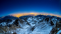 La cima (Kap_PH) Tags: stella fisheye neve zenitar notte cima stelle d600 cadente carega